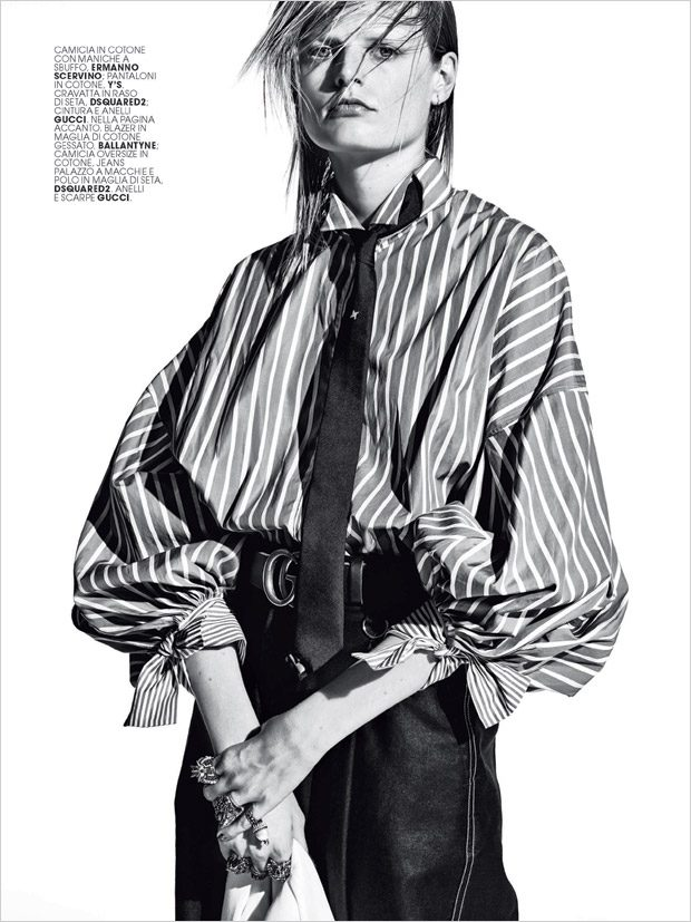 Hanne Gaby Odiele Stars in Marie Claire Italia February 2017 Cover Story