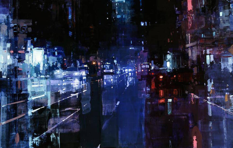 New Cityscapes Oil Paintings by Jeremy Mann