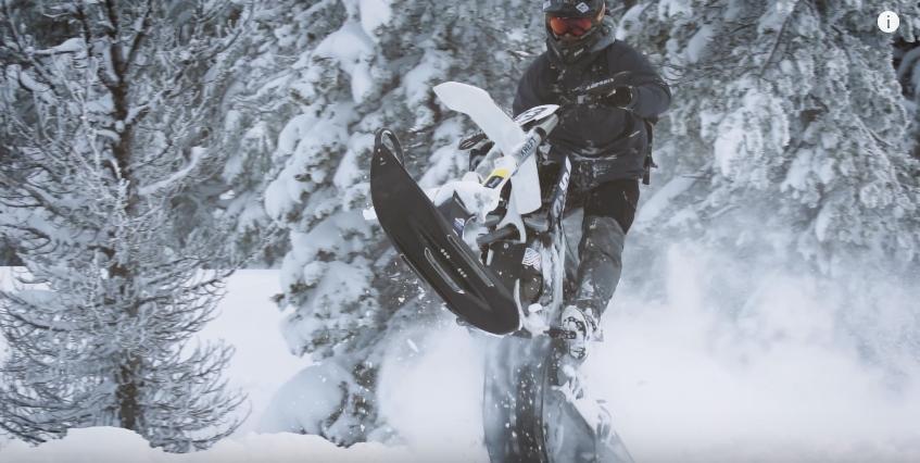 Сноу-байкинг в Орегоне (видео)