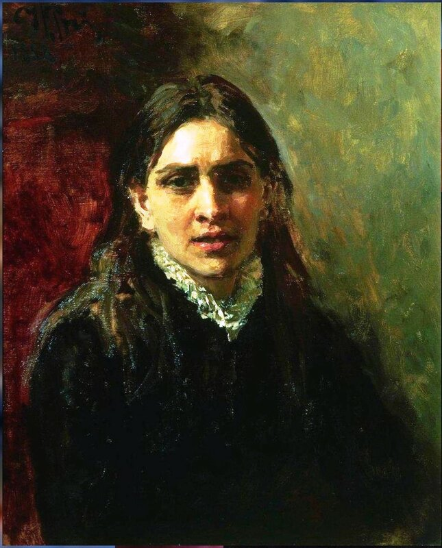 Актриса Пелагея Стрепетова. 1882. Илья Репин. actress.jpg