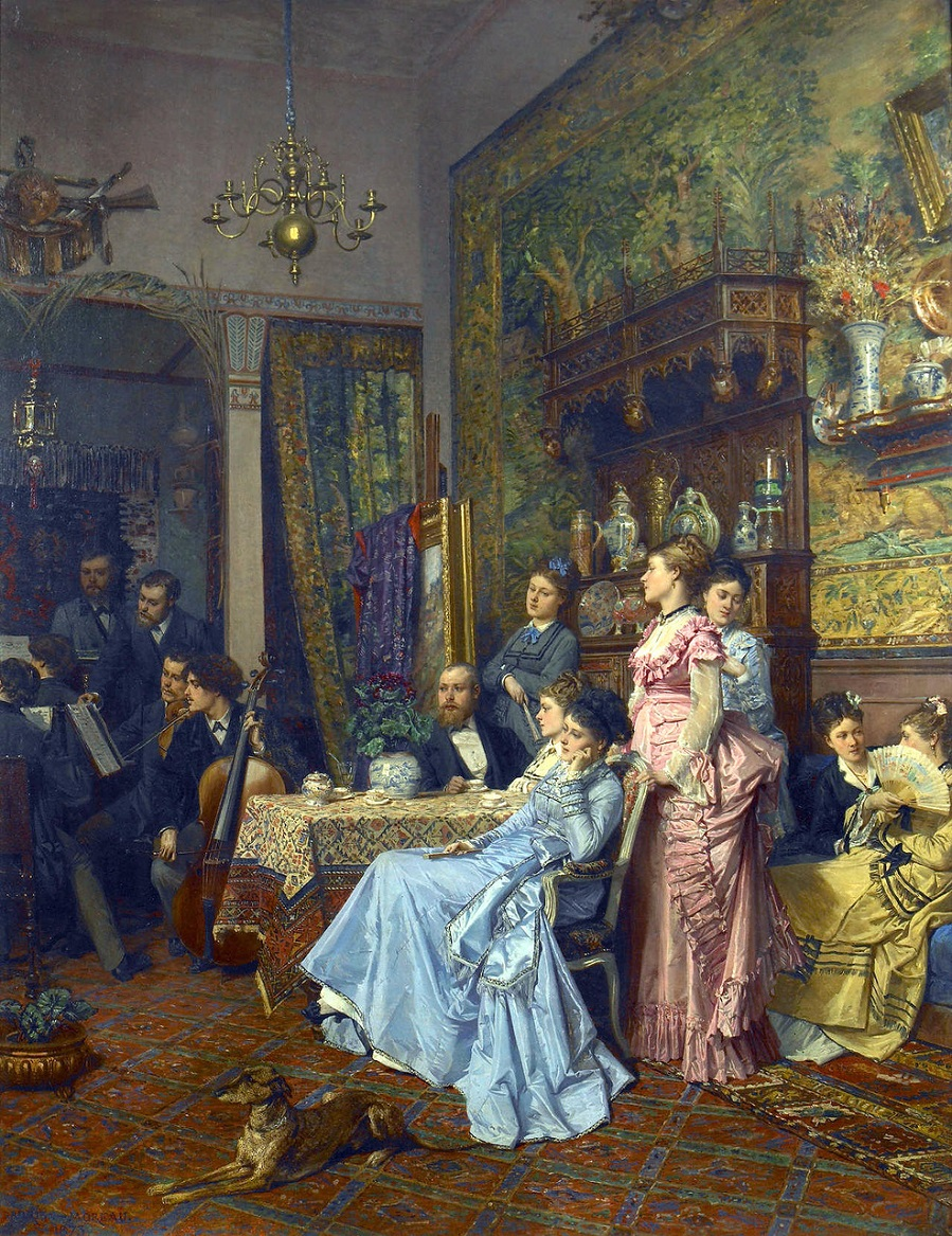 Adrien Moreau<br /> Concert d'amateurs dans un atelier d'artiste, 1873