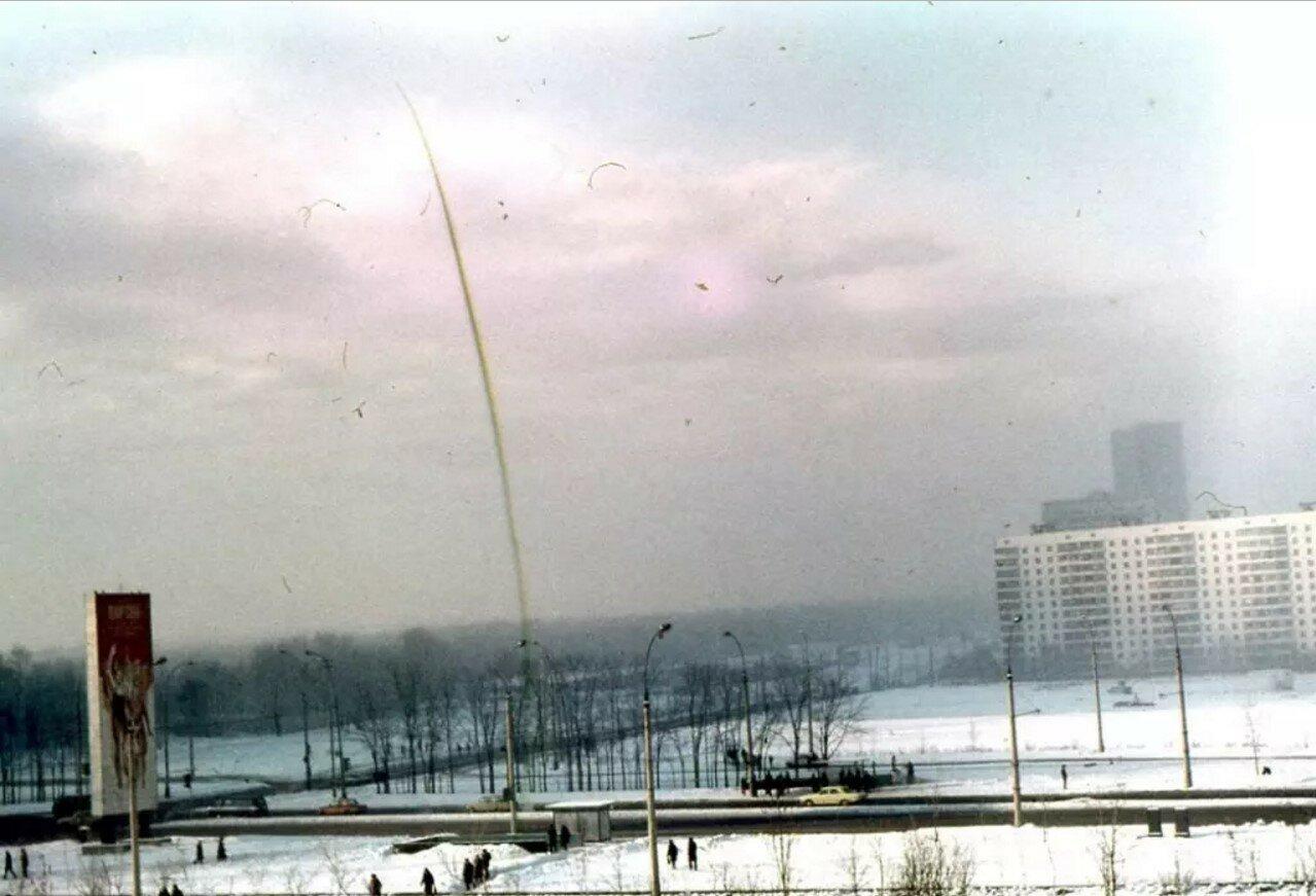 1987. Перекресток Варшавского шоссе и улицы Академика Янгеля
