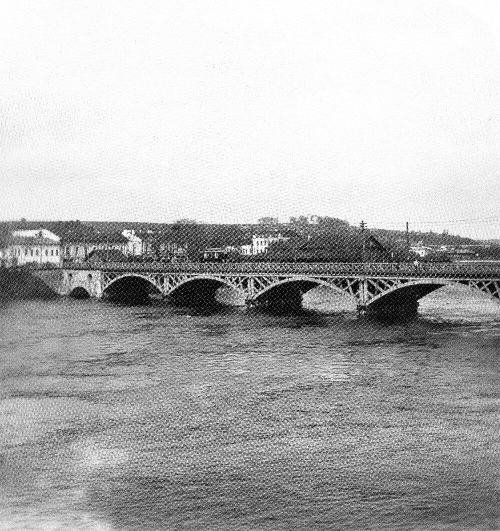 Старый мост во время половодья.1905