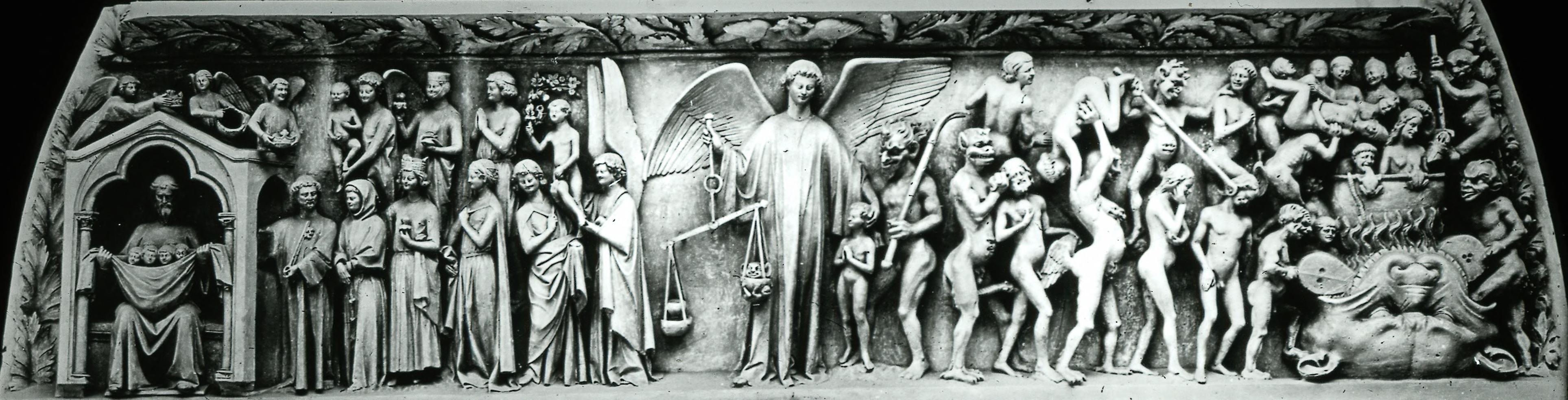 Сент-Этьен-дю-Мон. Центральный дверной проем. Страшный суд.1190-1275