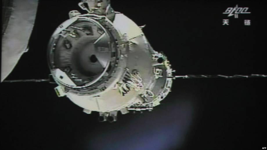 Китайский космический корабль «Тяньґун-1» упал в южной части Тихого океана