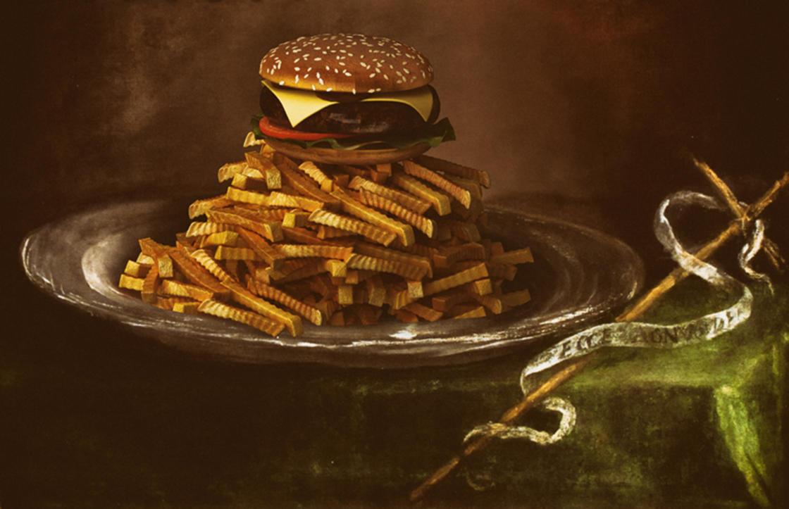 Il offre des montagnes de burgers aux chefs-d'?uvre de la peinture
