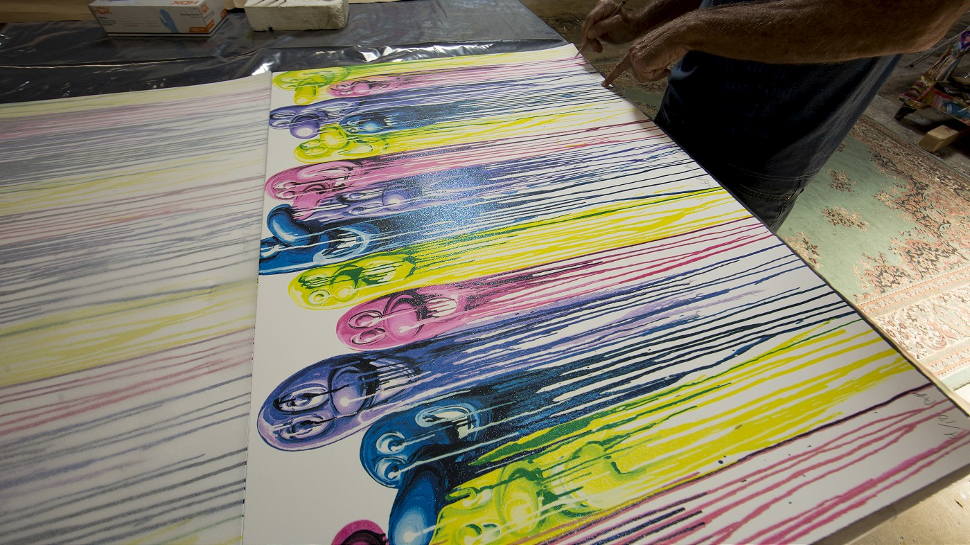 "Releases: Kenny Scharf – ""Sloppy Melt"" Lithograph (6 pics)"