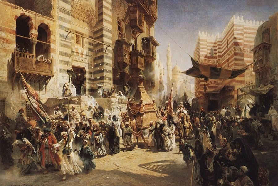 Возвращение священного ковра из Мекки в Каир 1876. <br /> National Gallery of Armenia