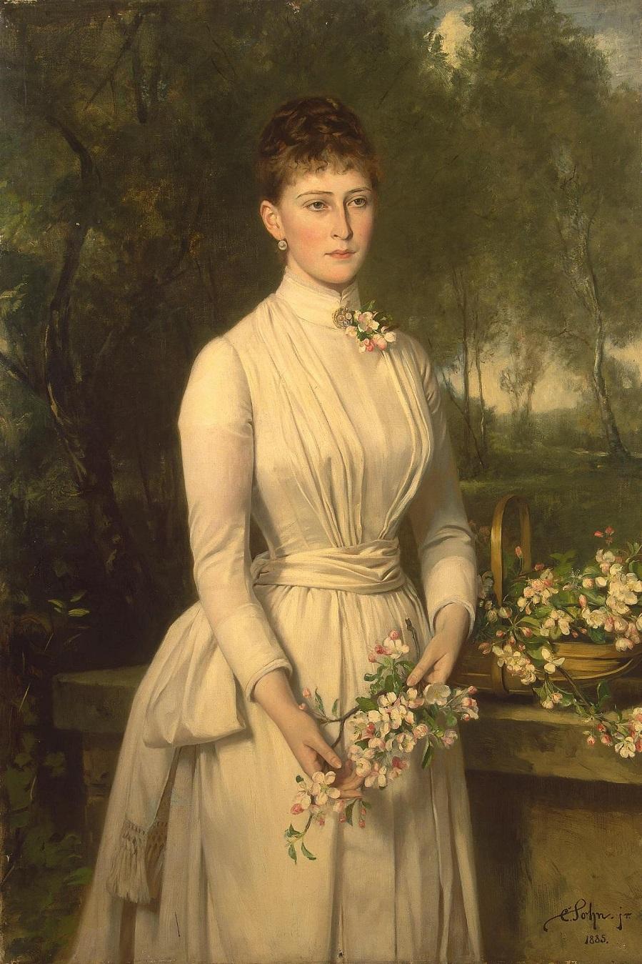 Portrait of Grand Duchess Elizaveta Fyodorovna Germany, 1885