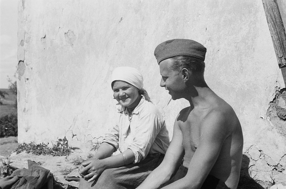 Франц Грассер с женой молодого крестьянина
