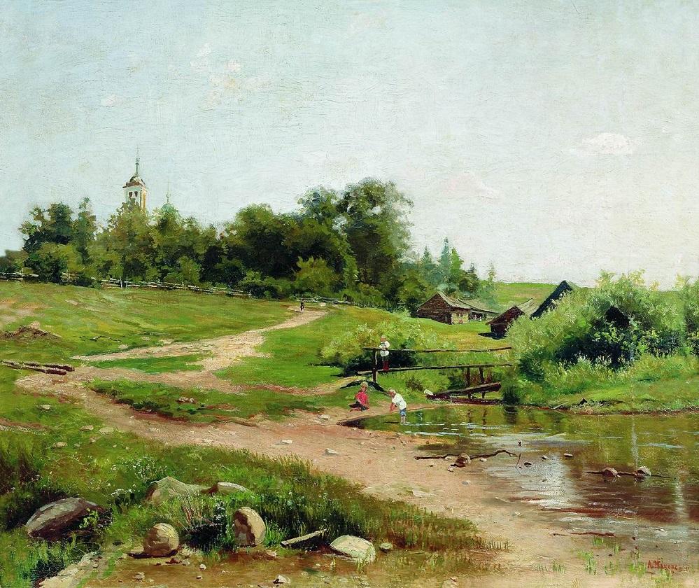 Сельский пейзаж. Конец XIX-начало XX вв.
