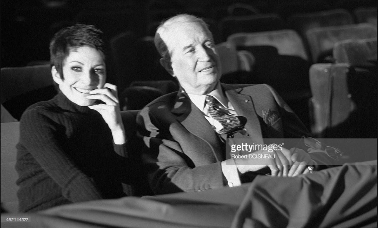 1970. Зизи Жанмер и Морис Шевалье в Казино де Пари 20 января g
