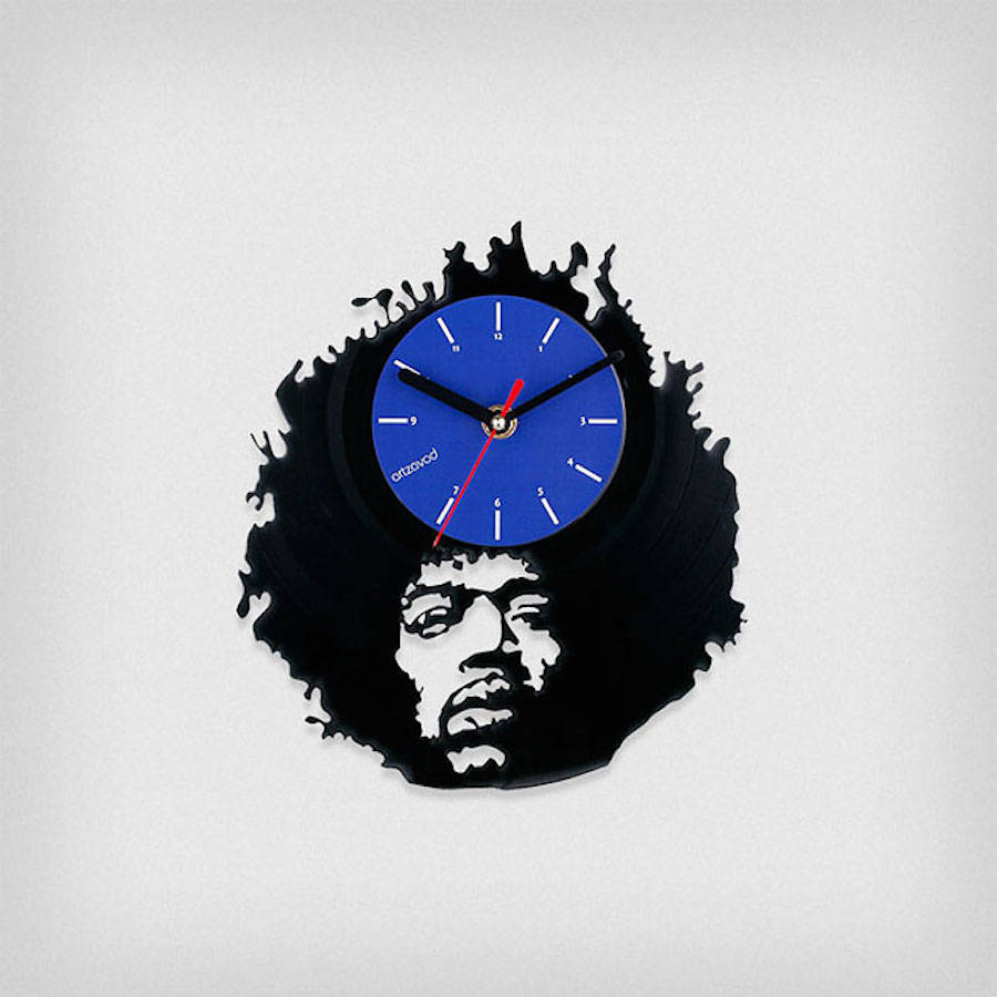 Clocks Collection Inspired by Old Vinyls Records