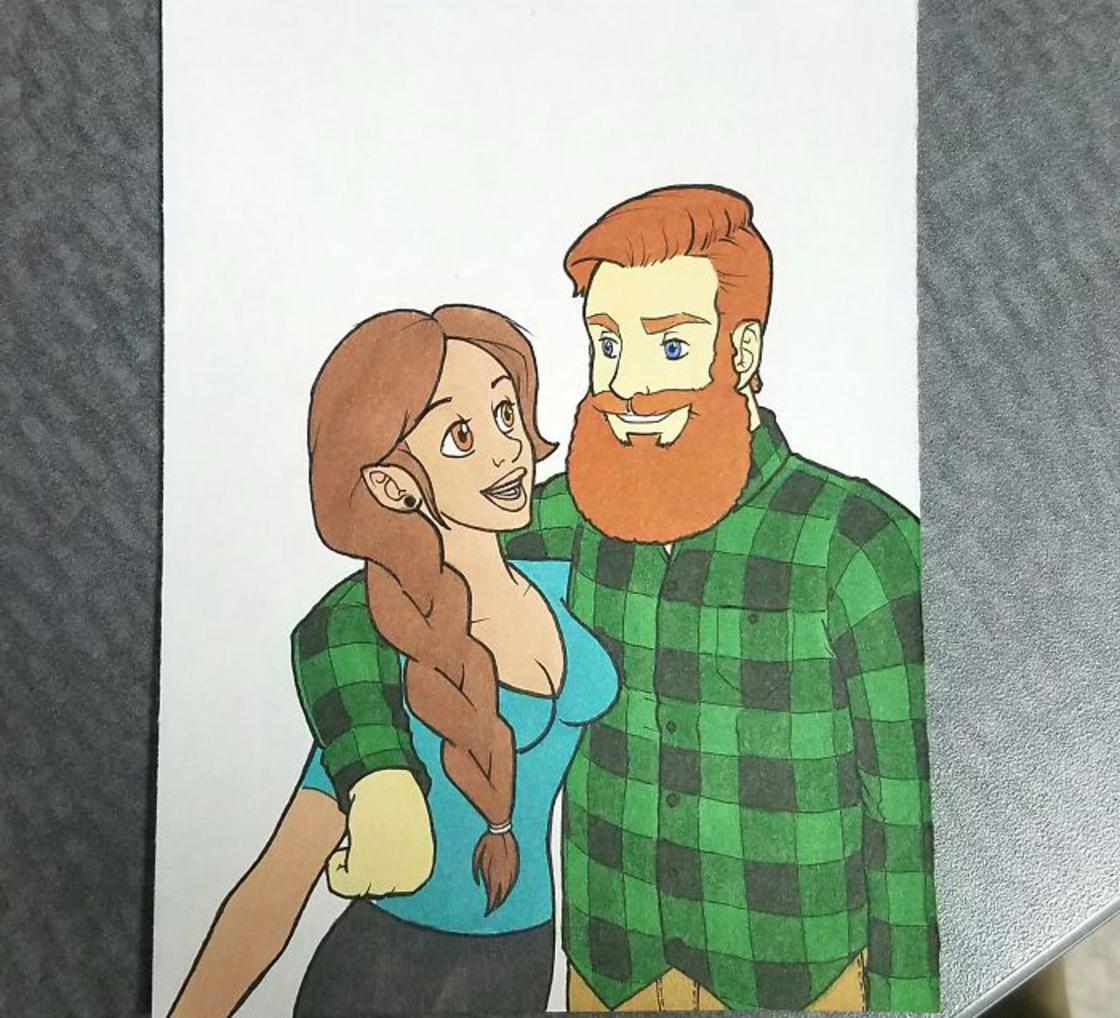 Il dessine son couple en reproduisant le style de 10 cartoons cultes !