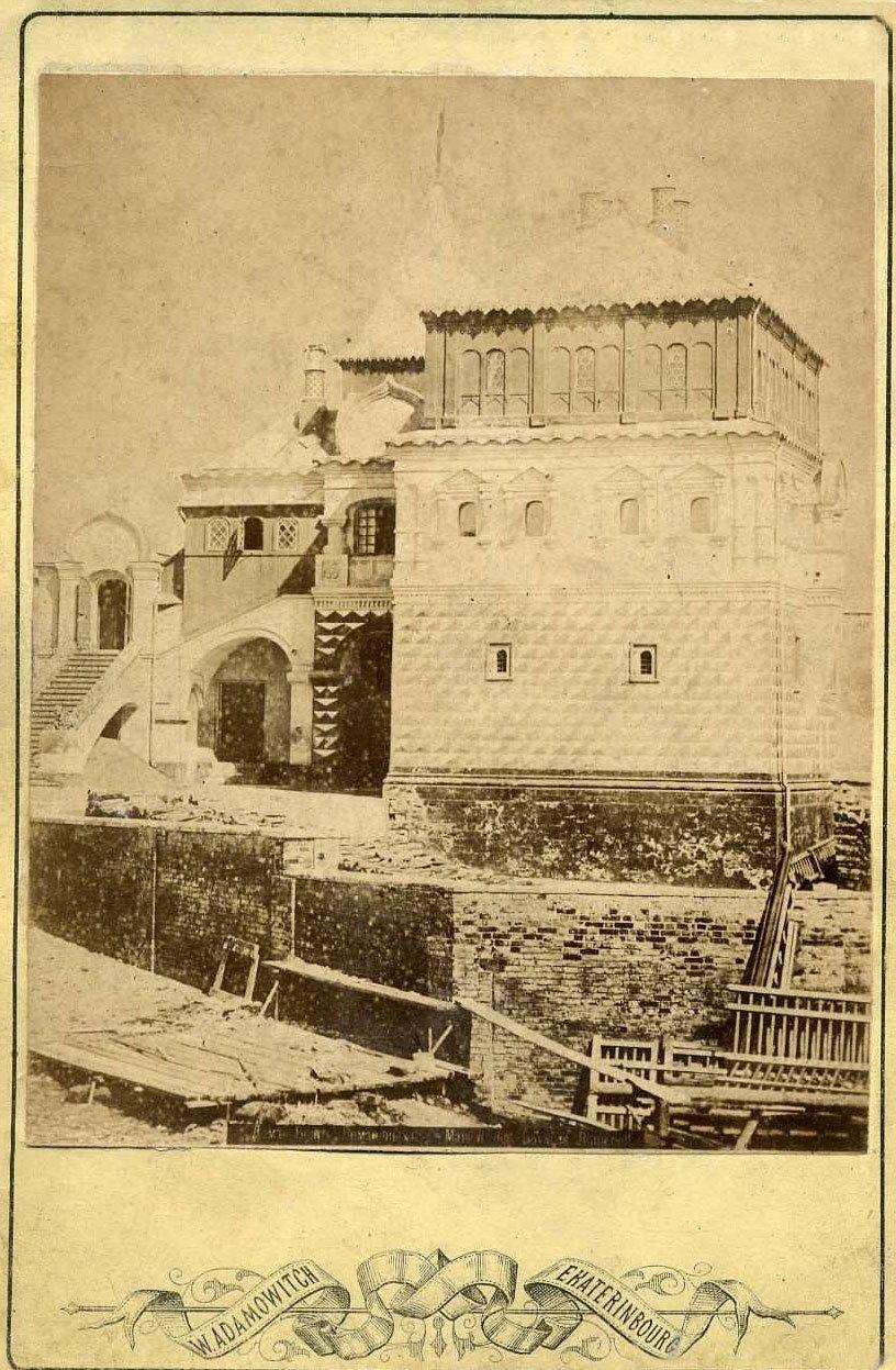 Реставрация палат бояр Романовых.1860-е