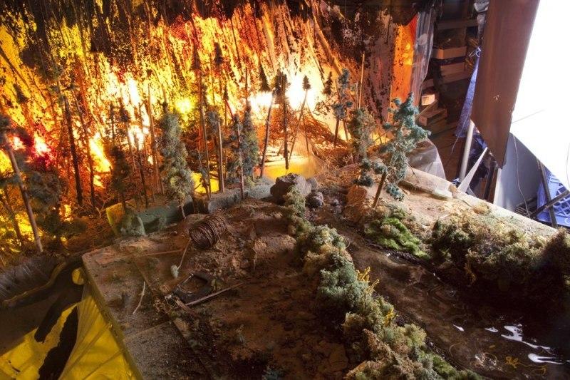 Диорама лесной пожар