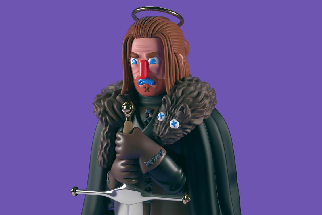 Game of Thrones – Les sculptures pop et colorees de Grand Chamaco