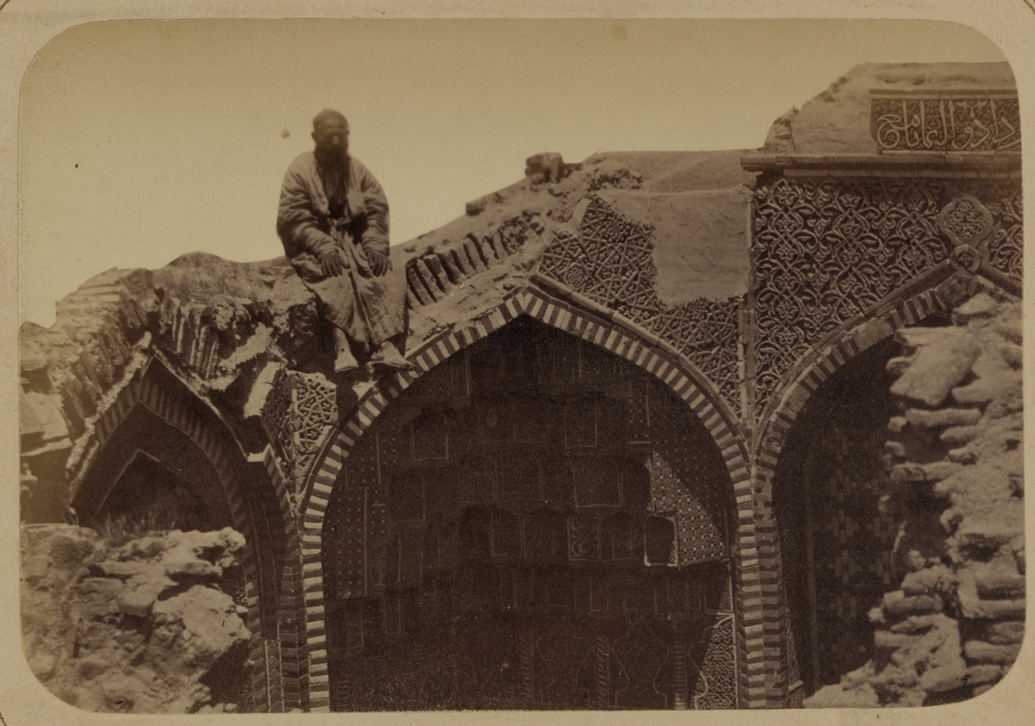 Мавзолей Ша-Арап. Вид верхней разрушенной части