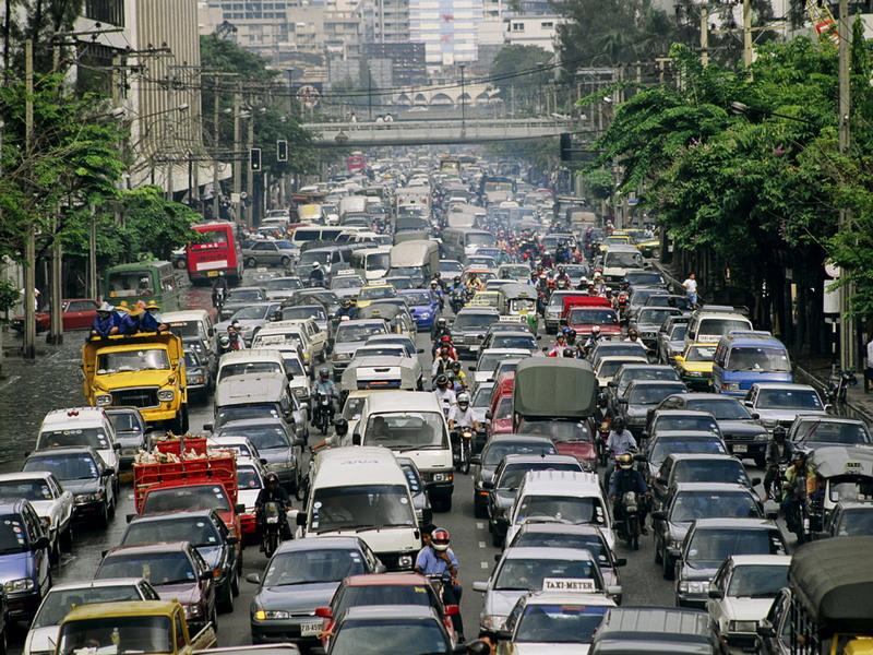 Города с самыми большими пробками