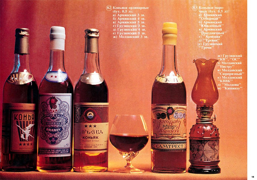 алкоголь водка каталог рекламная компания СССР