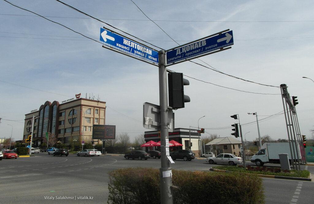 Указатель улицы Шымкент