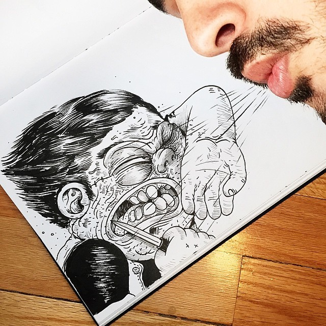 Interactive Ink illustrations