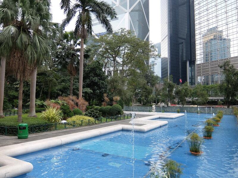 Гонконг - Фонтан в Chater Garden