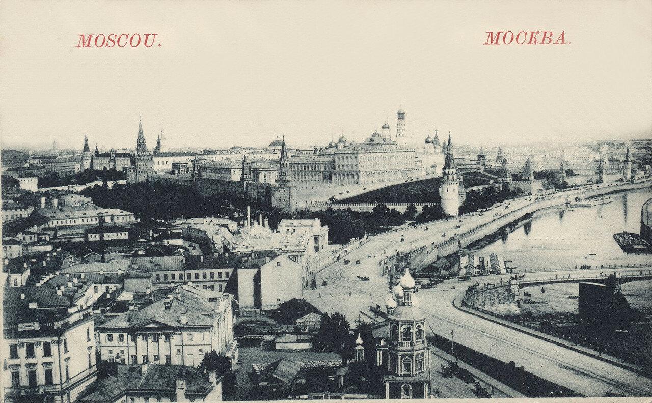 755037 Вид с Храма Христа Спасителя на Кремль и церковь Похвалы Пресвятой Богородицы 96-97