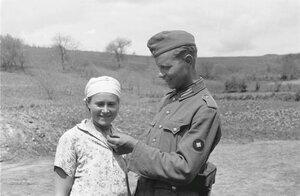 Франц Грассер и молодая девушка