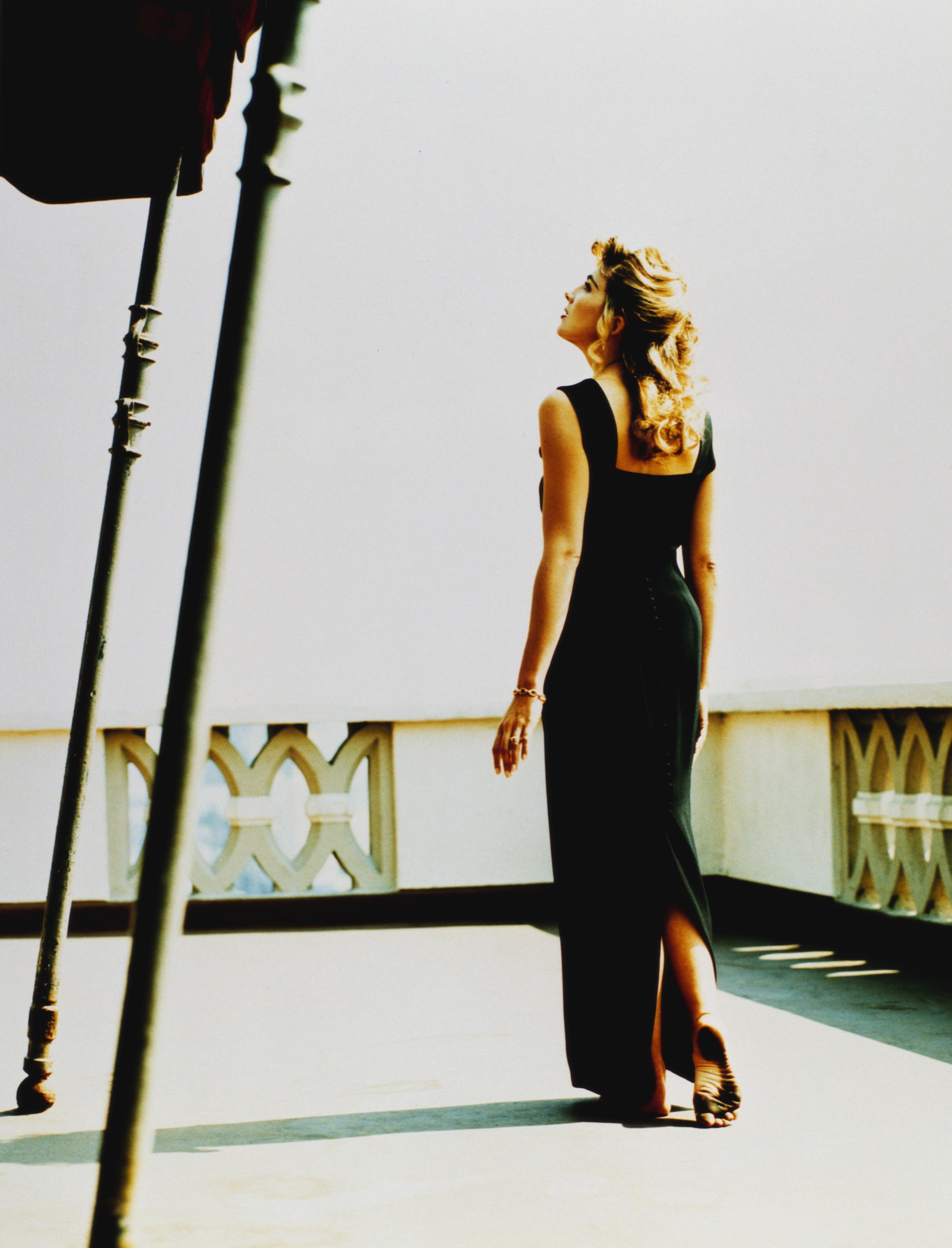 Actress Natasha Richardson on Terrace