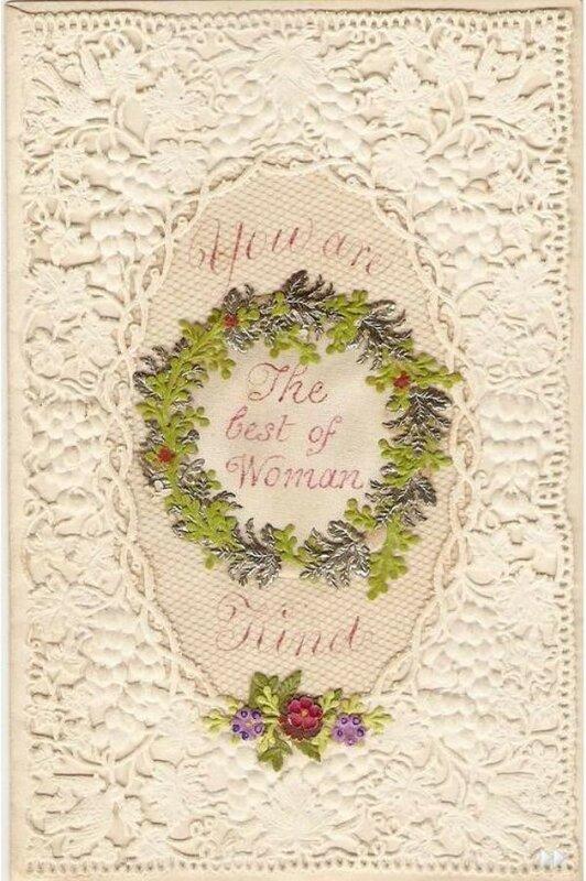 старинные кружевные открытки время очень