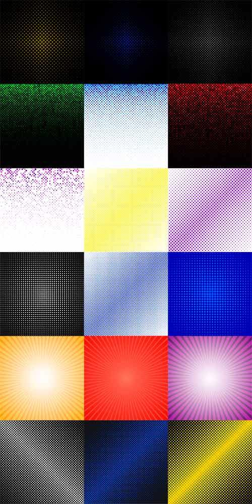 Разноцветные фоны в векторе / Colored backgrounds in vector