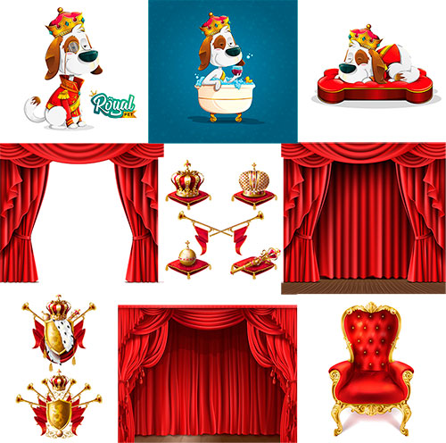 Симпатичная собака и королевские атрибуты / Cute Dog and The royal attributes