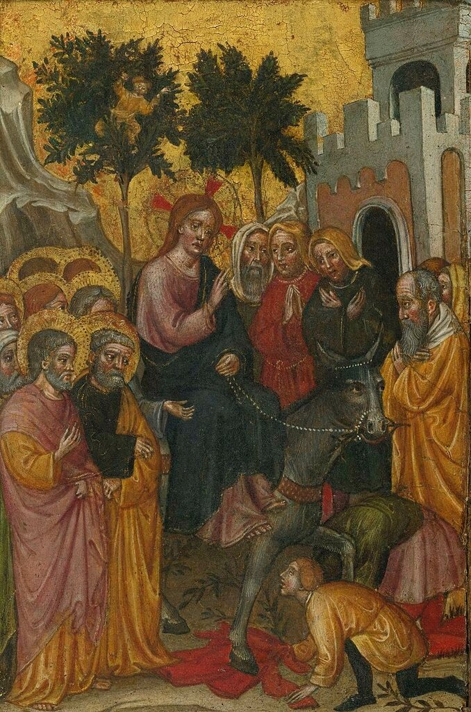 Zanino_di_Pietro_The_Entry_of_Christ_Into_Jerusalem пер. пол. 15 в.1389-1443.jpg
