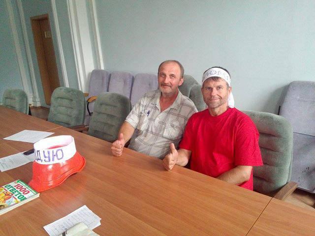 Двое шахтеров с Донетчины прекратили голодовку в здании Минэнергоугля. ФОТО