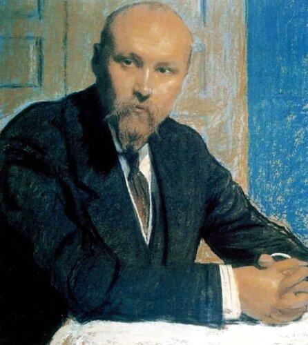 Борис Михайлович КустодиевПортрет Николая Константиновича Рериха  [1913]