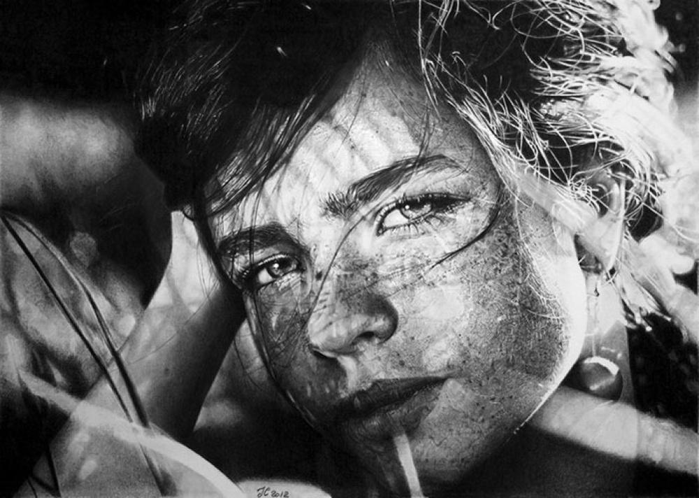 © francoclun   Йегал Озери «Лиззи курит» Масло