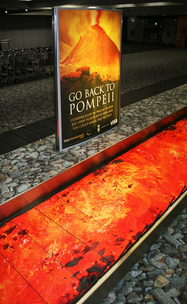 Для продвижения выставки, посвященной Помпеям вНациональном музее Новой Зеландии, организаторы исп