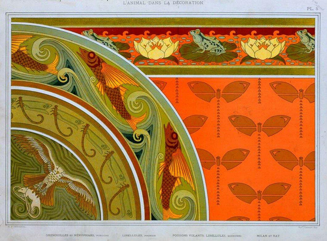 Вектор: art nouveau frame design ornament