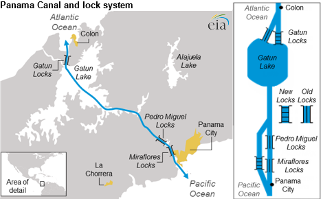 eia.gov: Расширение Панамского канала и экспорт углеводородов США