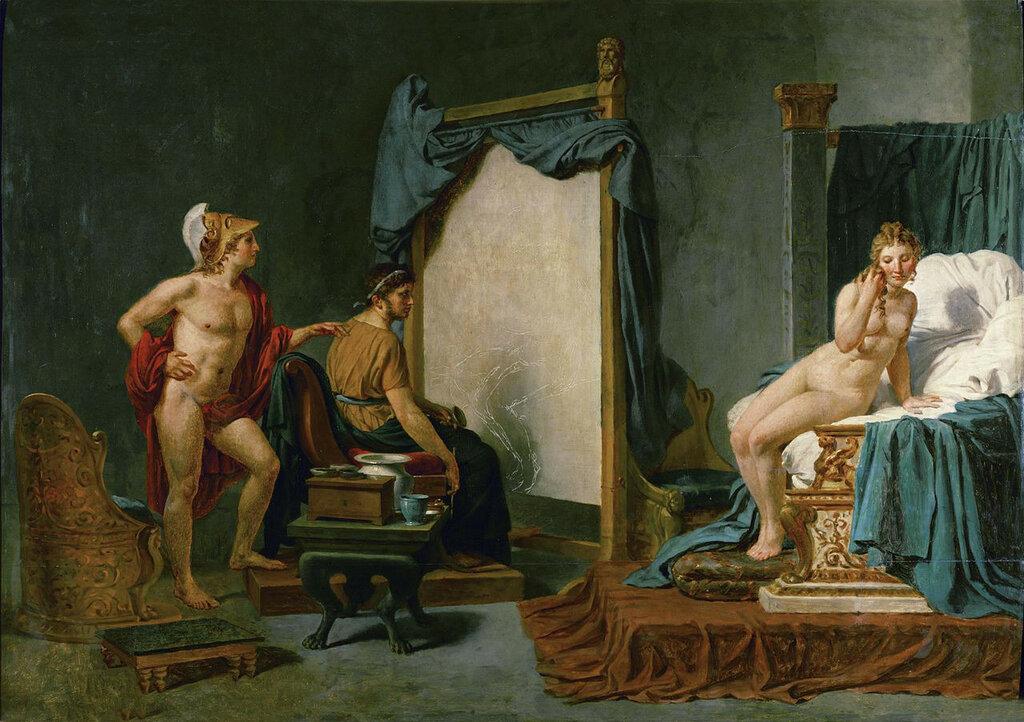 1813-23  Жак- Луи  Давид  Апеллес пишет Кампаспу в присутствии Александра Великого.jpg