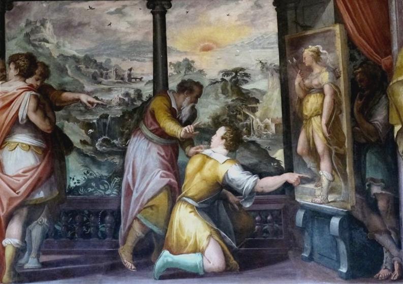 Фреска Storie di Apelle. Casa Vasari.png