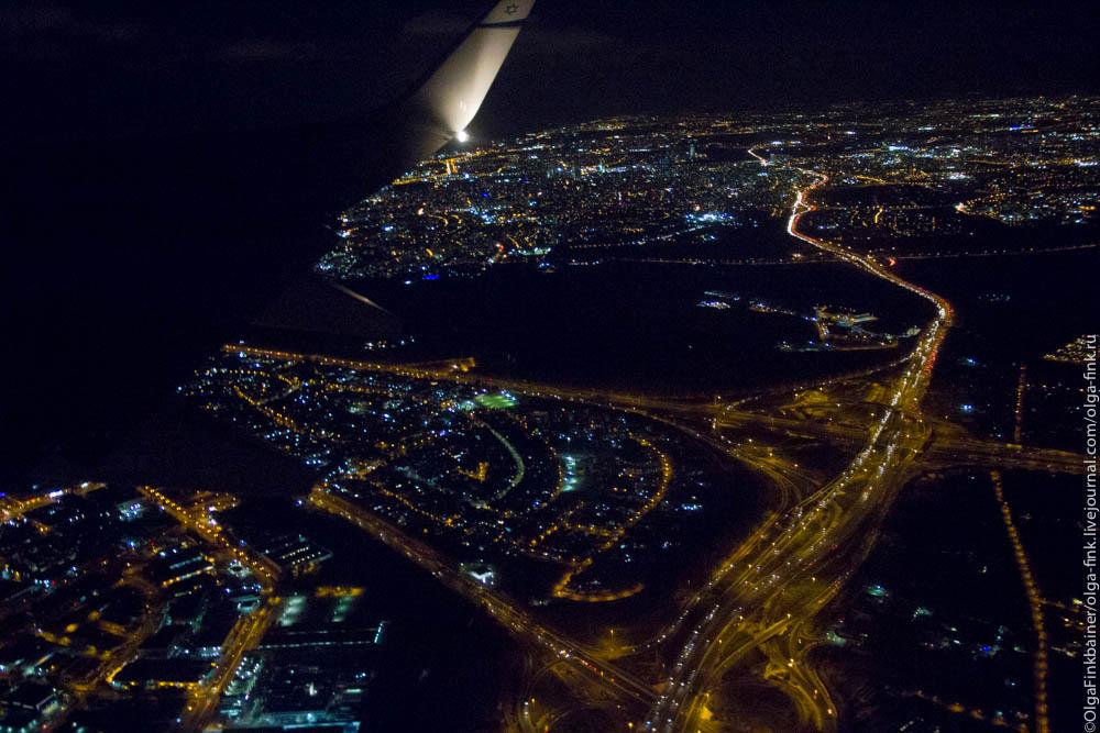 Ночная москва фото с самолета