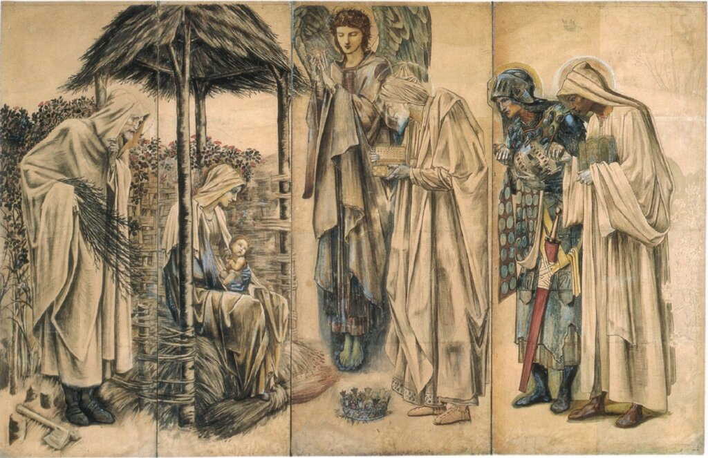 Adoration of the Magi Tapestry cartoon, 1888.jpg