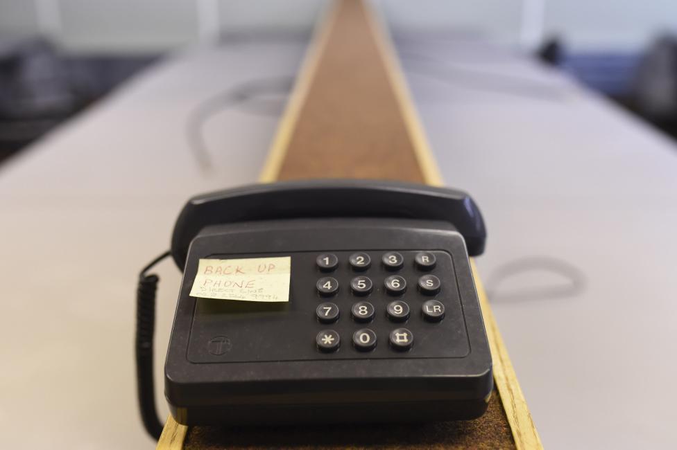 Резервный телефон для правительственной связи.