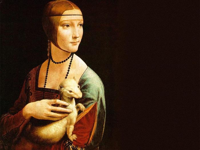 Неизведанные факты о «Даме с горностаем» да Винчи, которые открыли только после ее сканирования. (12 фото)