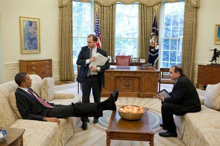 Президент США на работе