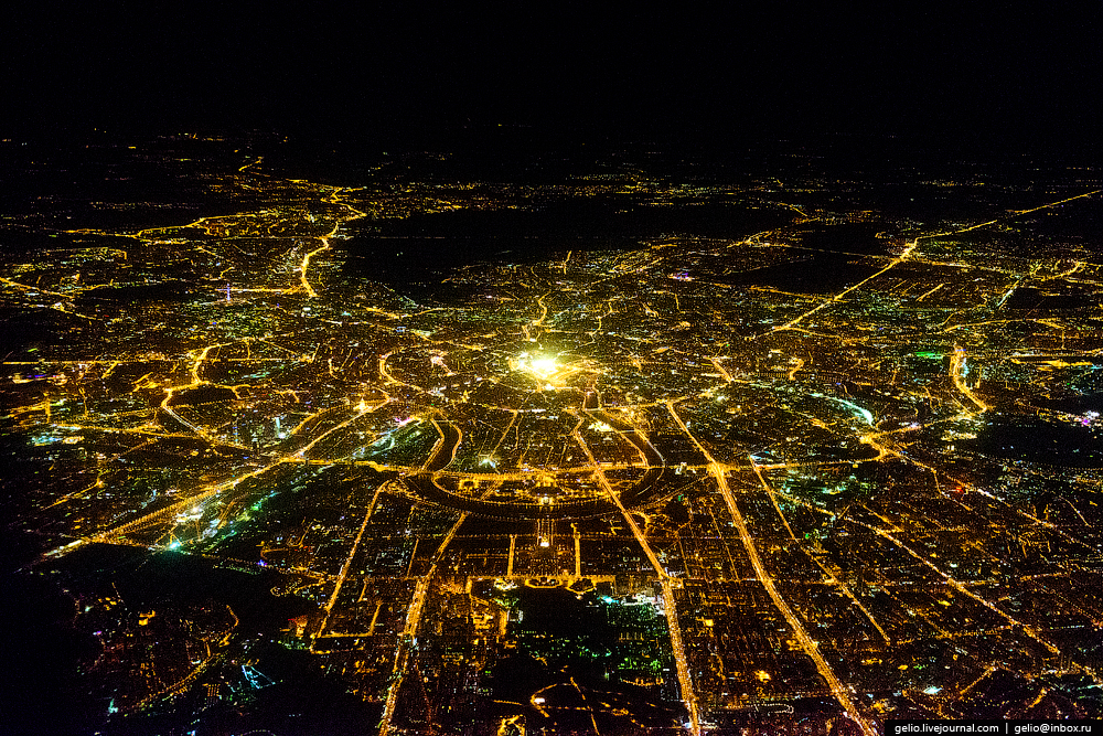 Москва. МГУ. Фотографии из окна самолета