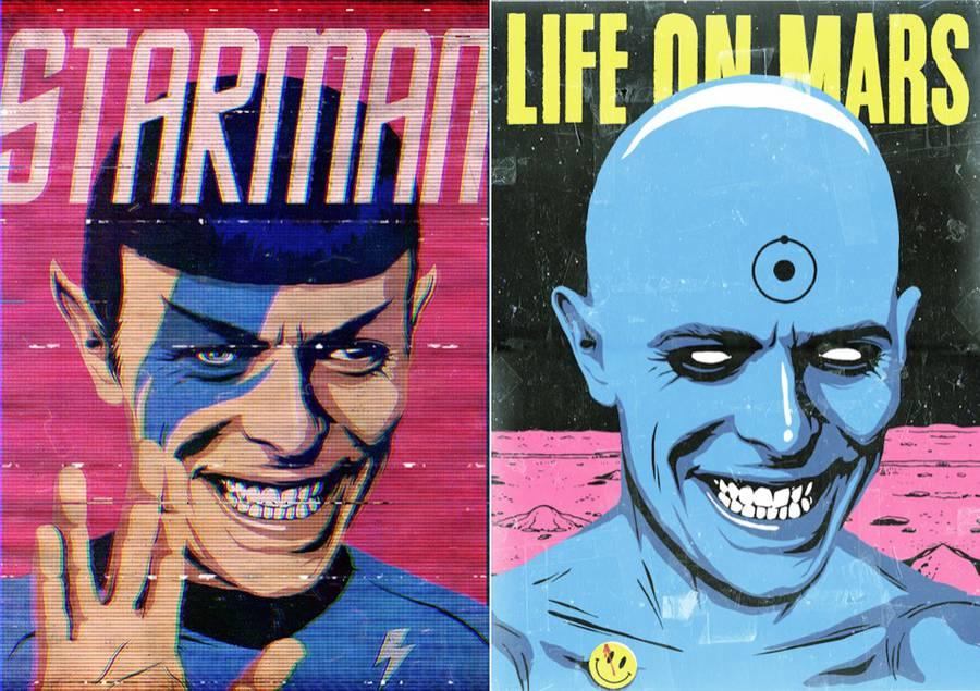 David Bowie Pop Culture Posters (32 pics)