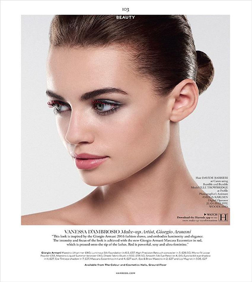 Elle Trowbridge by Rui Faria for Harrods Magazine